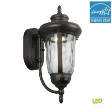 home decorators collection bronze motion sensor outdoor integrated led medium wall mount lantern
