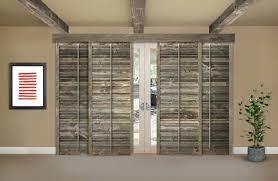 plantation shutters for sliding glass doors reclaimed wood shutters on a sliding glass door in phoenix