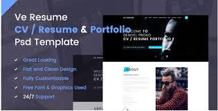 10 Best Resume Psd Design Templates 2018 For Cv Portfolio