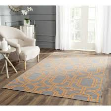 amazing wayfair living room rugs of safavieh dhurries hand woven wool gray orange area rug reviews