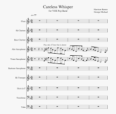 Dm7to the heart and mind. Careless Whisper Sheet Music Composed By Harrison Barnes Careless Whisper Treble Clef Free Transparent Clipart Clipartkey