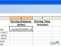 Driving Distance Chart Driving Distance Calculator In Excel