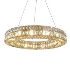 fumat modern nordic round crystal chandelier pendant light re k9 led round crystal hanging ring lamp