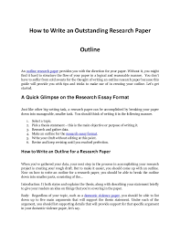writing an impressive outline research paper how to write an outstanding research paper outline an outline research paper provides you the