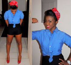 pin for later 11 y costumes you can pull off in your rosie the riveter kick rosie the riveter s attire up a notch with short shorts and high