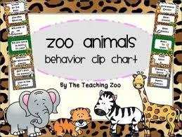 Zoo Animals Behavior Clip Chart Jungle Safari Theme