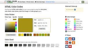 Html Color Chart With Names Access Html Color Codes Html Color Codes Find Colors Now