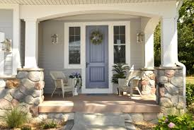 Exterior Door Decorating Furniture Extraordinary Front Porch Decoration With Brick Wall