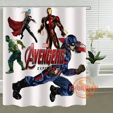 custom shower curtain the avengers captain america thor all heros waterproof bathroom curtains in shower curtains from home garden on aliexpress com