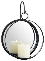 9x14 orbit candle wall sconce with