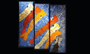 stained glass mosaics fish kites stained glass mosaic stained glass mosaic stepping stone patterns