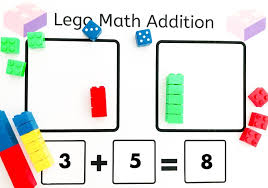 Learning resources for kids featuring free worksheets, coloring pages, activities, stories, and more! Lego Brick Math Addition Activity Playtime Learning