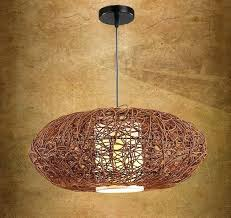 wicker chandelier shades