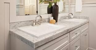 drop the bathroom sink into the vanity
