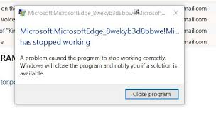 edge stopped working windows 10 forums