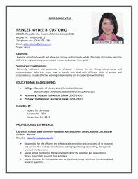 Simple Resume Examples Whitneyport Daily Com Best Sample Resumes