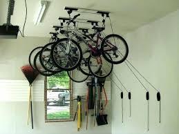 awesome inspiration ideas bike storage in garage ceiling rack for door hooks