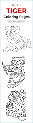 Top 20 Free Printable Tiger Coloring