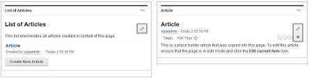 Creating Content With The Articles Template Page