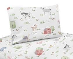 farm animals collection twin sheet set
