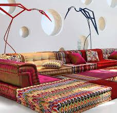 roche bobois floor cushion seating. Bohemian Living Room: Roche Bobois Mah Jong Modular Sofa Floor Cushion Seating