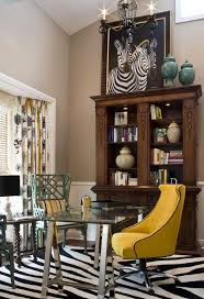 Small Picture Home Decoration Yellow Armless Chair With Beautiful Zebra Rug In