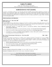 Resume Template Sample Resume For Administrative Assistant Job