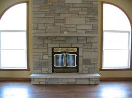 fireplace stone and wood simple design