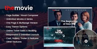 Wordpress Movie Theme The Movie Cinema Film Series Wordpress Theme
