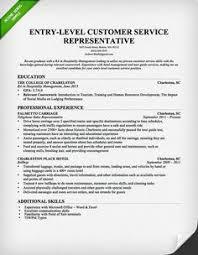 Entry Level Customer Service Representative Resume Template Pinterest