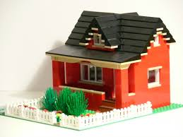 Real Life Lego House Red Bungalow With Dormer Left Front This Small House App Flickr