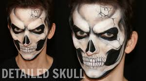 realistic skull makeup and face painting tutorial