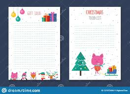 Cute Lists Christmas Holiday To Do Lists Planner Cute Notes With