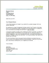certified project manager cover letter e4492b89