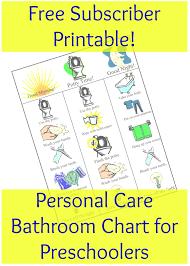 Preschool bathroom Toddler Bathroom Personal Care Chart For Preschoolers