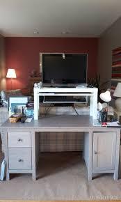 standing desk using hemnes lack summera