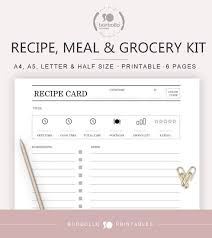 Grocery List Prices Meal Planner Pack Printables For Recipes Weekly Planning And Grocery List Grocery Prices Tracker Supermarket Planner Supermarcado List