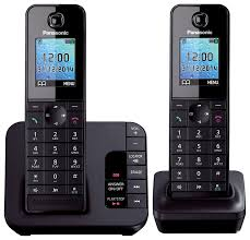 panasonic kx tgh222 dect cordless phone with answering machine twin