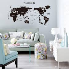 World Map Home Decor 2015 Best Sales Travel World Map Shop Window Stickers Decorative