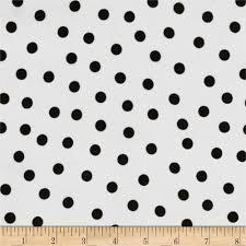 Oilcloth Polka Dot White/Black - Discount Designer Fabric - Fabric.com &  Adamdwight.com