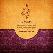 Free Invitation Background Designs Floral Elegant Invitation Vector Free Download