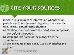 How To Cite A Quote In Mla Simple Paraphrasing Mla Format Seatledavidjoelco