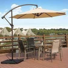 patio umbrellas cantilever. Perfect Cantilever Weller 10 Ft Offset Cantilever Hanging Patio Umbrella By Westin Outdoor On Umbrellas L