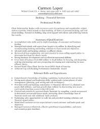 Banker Resume Resumes Summary Investment Objective Personal Examples