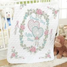 Baby by Herrschners® Pre-Quilted Dream Big Baby Quilt Stamped ... & Baby by Herrschners® Pre-Quilted Dream Big Baby Quilt Stamped Cross-Stitch  Kit Adamdwight.com