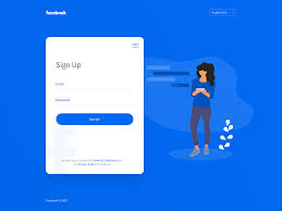 Facebook Interface Design Simplified Facebook Signup By Santanu Singha On Dribbble