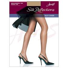 Hanes Hosiery Color Chart Hanes Silk Reflections Womens Silky Sheer Non Control Top Sheer Toe Pantyhose 715