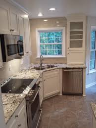 d shaped kitchen sink inspirations and a better corner great idea save space corners pictures