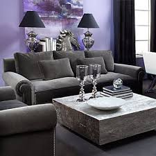 Charcoal and Purple living room... loving this