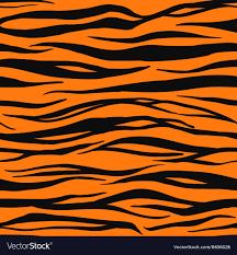 Tiger Pattern Custom Tiger Print Pattern Royalty Free Vector Image VectorStock